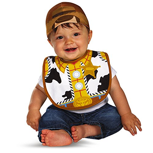 Disguise Baby's Disney Pixar Toy Story and Beyond Woody Infant Bib and Hat Costume