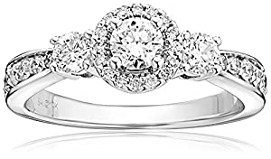 14k White Gold 1 cttw Diamond Anniversary Ring (H-I Color, I2 Clarity), Size 8