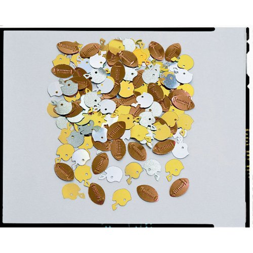 Football Metallic Confetti 1/2oz Bag by Creative Converting