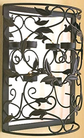 New Better Homes and Garden Vine and Leaf Mirrored Tealight Sconce