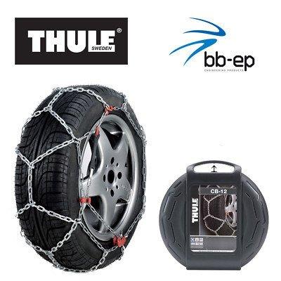 Schneekette THULE CB-12 PKW für die Reifengröße 195/60 R15 Preis-Leistungs-Sieger (1 Satz - 2 Stück Schneeketten)