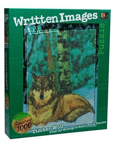 Written Images Puzzle: Timber Wolf