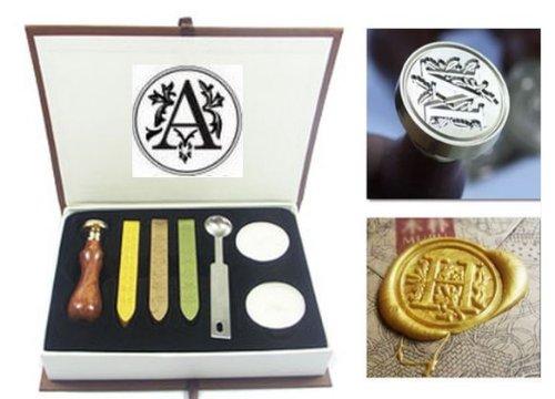 Sealing stamps wax set election eating A-Z wax initials / alphabet (A)