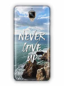 YuBingo Never Give Up Designer Mobile Case Back Cover for OnePlus 3