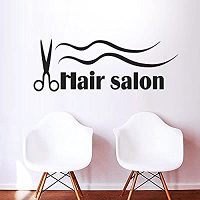Fashion Hair Salon Wall Quotes Hair Stylist Scissors Wall Stickers For Salon