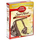 Betty Crocker Supermoist Cake Mix, Butter Recipe Yellow, 18.25-Ounce Boxes (Pack of 12) ~ Betty Crocker Baking