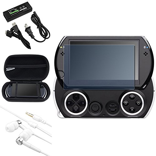 Everydaysource® Eva Case Cover+Ac Home Charger+Lcd Screen Guard Protector+Headset Compatible With Psp Go Usa