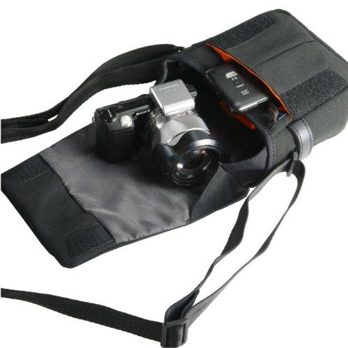 VANGUARD ショルダーバッグ Vojo 13BK ミラーレスカメラ/望遠レンズ装着+パンケーキレンズ+機材類対応 ブラック
