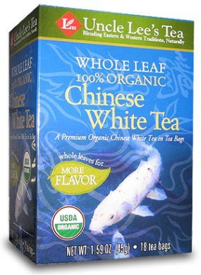 Whole Leaf, Organic White Tea-18 Bags Brand: Uncle Lees Tea