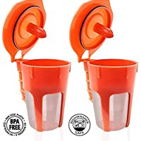 Fill N Save 2 Pack Reusable Carafe K-Cups. Reusable coffee filter for the Keurig 2.0, K200, K300, K400, K500 Series of Machines