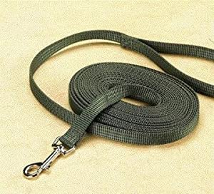 3 PACK NYLON TRAINING LEAD, Color: OLIVE; Size: 5/8 X20 (Catalog Category: Dog:WALKING ACCESSORIES)