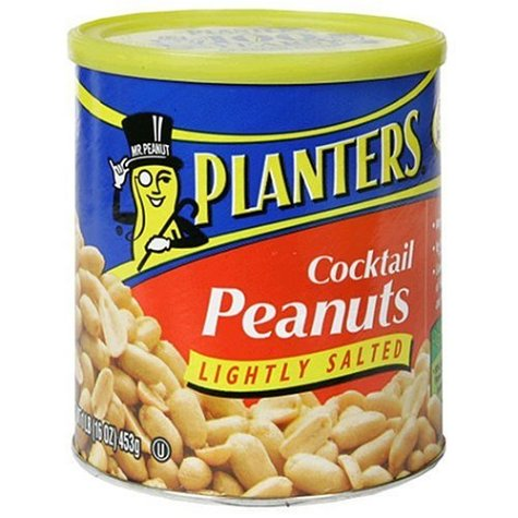 Buy Planters Peanuts Cocktail, Lightly Salted, 16-Ounce Canisters (Pack of 6) (Planters, Health & Personal Care, Products, Food & Snacks, Baking Supplies, Nuts & Seeds)