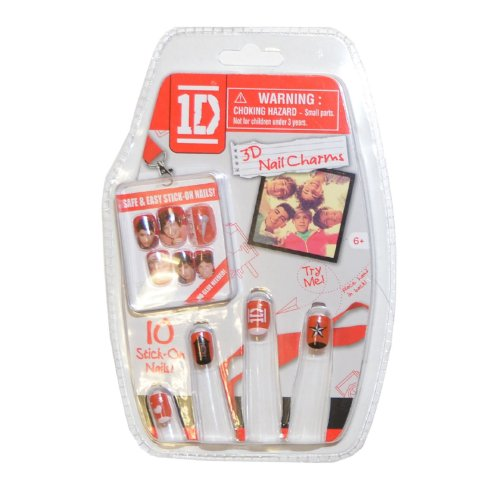 One Direction 1D Easy Stick-On 3D Nails Charms