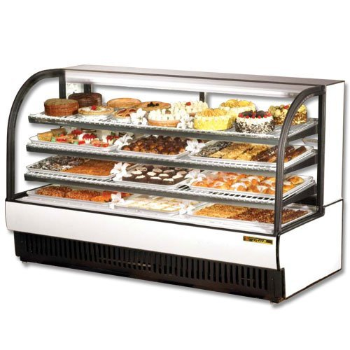 "True TCGR-77 78"" Curved Glass Refrigerated Bakery Display Case"