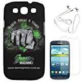 DMG Night Glow Hard Back Cover Case For Samsung Galaxy S3 Neo GT-I9300I (Punch) + White Earphones + Matte Screen...
