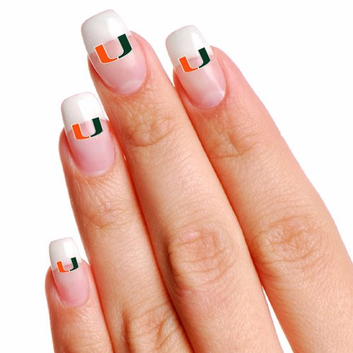 NCAA Miami Hurricanes 16 Mini Temporary Nail Tattoos