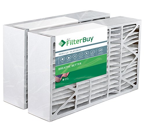 2 - 16x28x6 Aprilaire Space-Guard 2400 Aftermarket Pleated AC Furnace Air Filters. AFB Platinum MERV 13. (Furnace Filters 2400 compare prices)