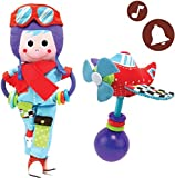 Baby Rattle And Plush Set - Musical Airplane And Pilot Play Set (3 mo+)
