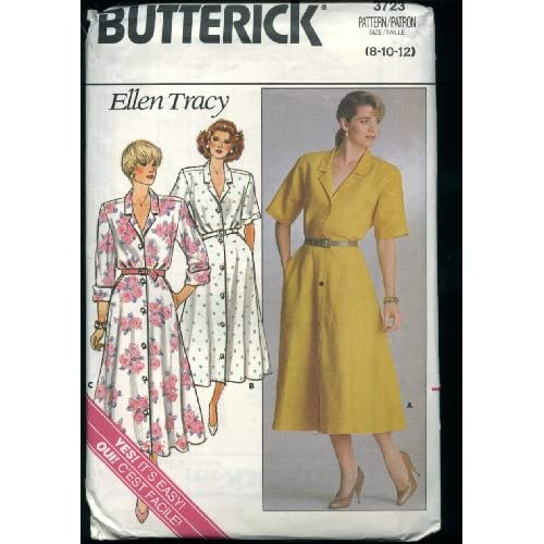Butterick 3723 Misses dress designed by Ellen Tracy