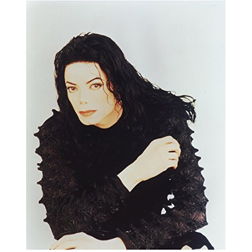 Michael Jackson 8x10 Photo Wearing Black Spikey Shirt kn