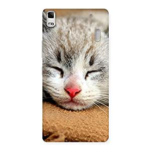 Ajay Enterprise Elite Sleeping Cat Multicolor Back Case Cover for Lenovo A7000
