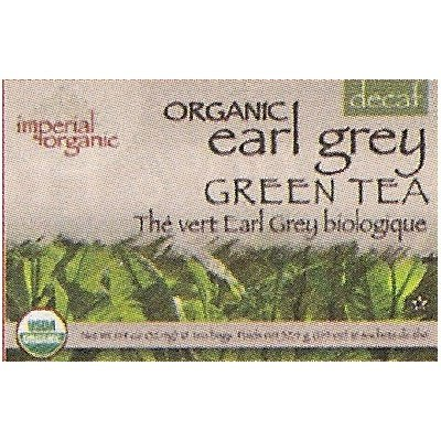 Uncle Lees Tea Imperial Organic Earl Grey Green Tea Decaf 18 Tea Bags