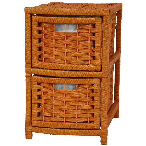 "17"" Natural Fiber Occasional Chest Color: Honey"