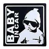 BABY IN CAR 赤ちゃん乗車中 マグネット 外貼り ステッカー12cm ブラック ランキングお取り寄せ