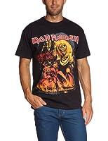 Collectors Mine Herren T-Shirt Iron Maiden-Number of the Beast Graphic