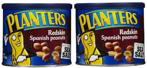 Planters Peanuts, Spanish Rdskn W/ Sea Salt, 12.5 Oz, 2 Pk