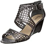 Enzo Angiolini Women's Quinn Wedge Sandal,Pewter,8 M US, Shoes Direct