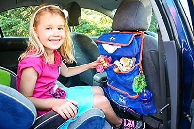 Shiny Journey Car Storage Backseat Organizer Bag for Kids Toys + Tablet Holder