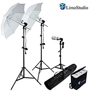 Photography Photo Portrait Studio 600W Day Light Umbrella Continuous Lighting Kit by LimoStudio LMS103