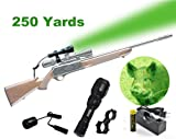 Orion H25-G 250 Yard Green Rechargeable LED Hog Hunting Light with Remote Pressure Switch, Scope Mounting and Charger Kit
