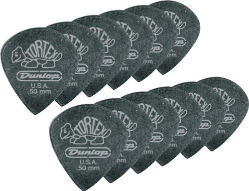 Dunlop 482P1.14 Tortex® Pitch Black Jazz III, 1.14mm, 12/Player's Pack