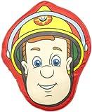 Character World Fireman Sam Head Shape Printed Plush Cushion