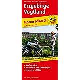 Motorradkarte Erzgebirge - Vogtland: Mit Ausflugszielen, Einkehr- & Freizeittipps und Tourenvorschlägen, wetterfest, reissfest, abwischbar, GPS-genau. 1:200000