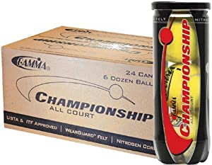 Buy Gamma Championship Tennis Balls - Case of 24 Cans by Gamma