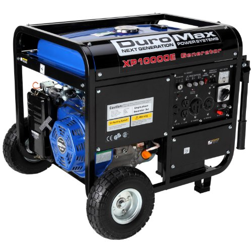 DuroMax XP10000E-CA 10,000 Watt 16 HP OHV 4-Cycle Gas Powered Portable Generator With Wheel Kit And Electric Start (CARB Compliant)