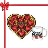Chocholik's Legend Heart Shape Nicely Wrapped Chocolates With Mug