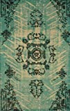 nuLOOM ON04B Natura Collection Xavier Jute Natural Fibers Transitional Hand Made Area Rug, 8-Feet by 10-Feet, Turquoise