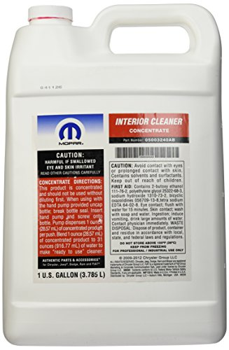 genuine chrysler accessories 5003240ab interior cleaner concentrate 1 gallon home garden. Black Bedroom Furniture Sets. Home Design Ideas