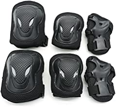 Cooplay XL Size 90kg Black Color Elbow Wrist Knee Pads Protection Gear Guard Adjustable for Kids Boy