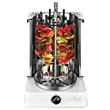 Premium Grill Schaschlikgrill Vertikalgrill Elektrogrill + 12 Spieße gratis