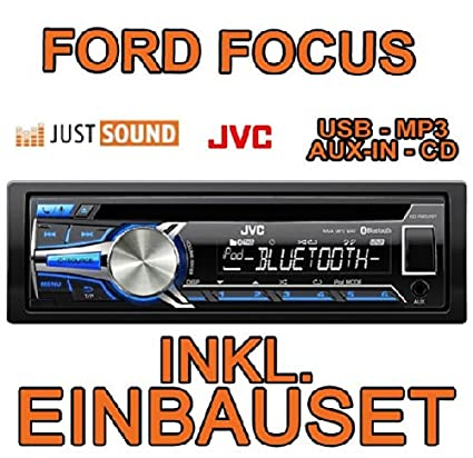 Ford focus mK1/jVC-kD r852BT cD/mP3/uSB avec kit de montage