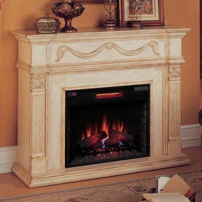 Gossamer Mantel With Electric Fireplace
