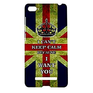 Skin4gadgets I CAN'T KEEP CALM BECAUSE I WANT YOU - Colour - Uk flag Phone Designer CASE for XIAOMI MI4I