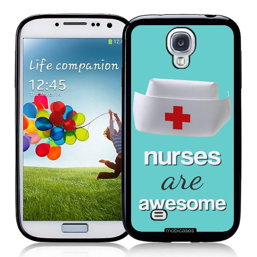 Nurses-Are-Awesome-Nurse-Medical-Protective-Designer-BLACK-Case-Fits-Samsung-Galaxy-S4-i9500