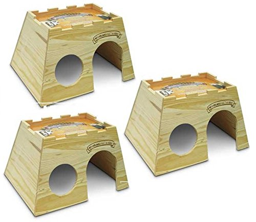 Super-Pet-Woodland-Get-A-Way-Extra-Large-Rabbit-House-3-Pack