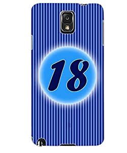 ColourCraft Numerology Number 18 Back Case Cover for SAMSUNG GALAXY NOTE 3